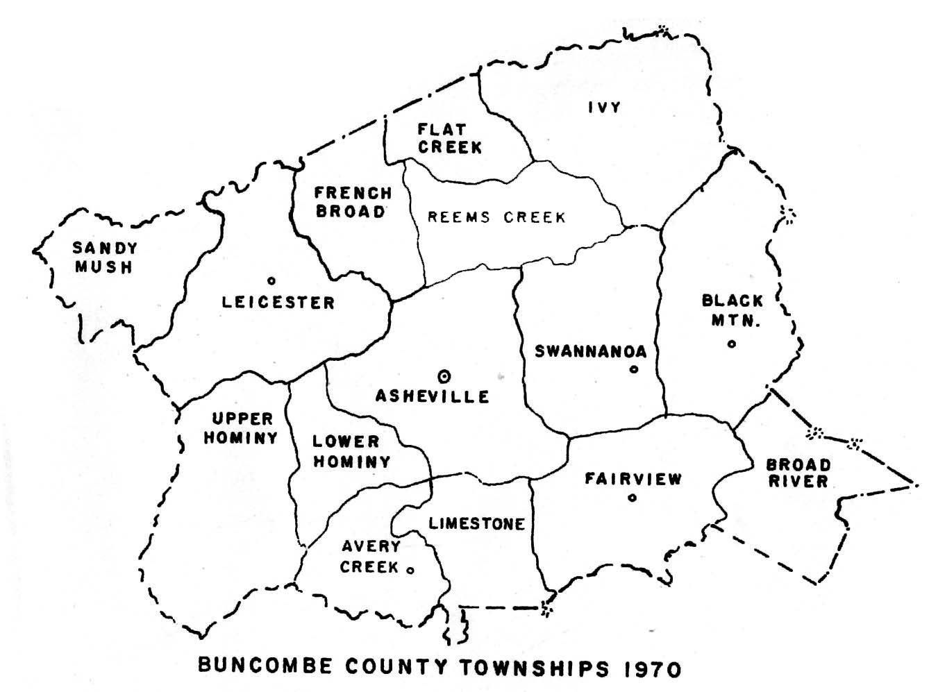 Buncombe County Townships